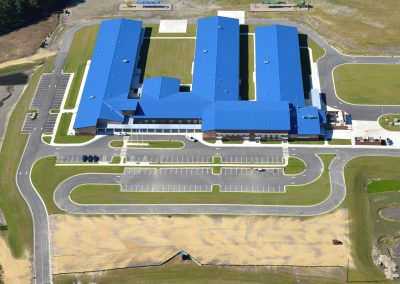 Aerial view of Richlands Elementary construction project